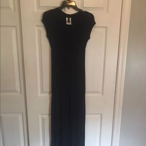 BCBG Max Azria Womens Navy Blue Maxi Dress